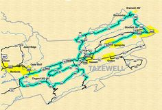Ride over 1500 miles of the best back roads Virginia has to offer. Get your free Appalachian Backroads map and plan your adventure. Motorcycle Rides, An Unexpected Journey, Back Road, Crests, Road Trips, Lush, Virginia, Places To Go, Motorcycles