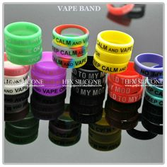 Vape Band/ Mod Band/Vape ring/ Mod Ring  is a high quality silicone band which custom debossed/embossed/screen print text, logo and website are available. To create custom bands with text that can go fully round the outer band and allow us to have a front and back with different text or logos.