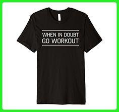 Mens When in doubt go workout t-shirt Medium Black - Workout shirts (*Amazon Partner-Link)