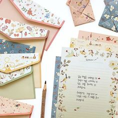 One letter pcs envelope Japan sweet flower animal Office school Supplies Envelope Carta, Gift Envelope, Writing Paper, Letter Writing, Acid Paper, Animal Set, Animal Letters, Envelope Lettering, Shipping Supplies
