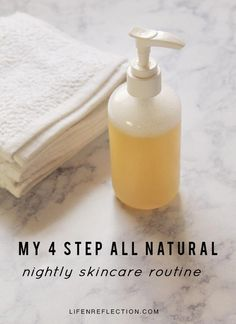 My 4 Step Nightly Skincare Routine and 4 organic skincare recipes #FaceCreamForWrinkles Face Care Routine, Skin Care Routine For 20s, Skincare Routine, Skin Routine, Face Skin Care, Diy Skin Care, Organic Skin Care, Natural Skin Care, Natural Beauty