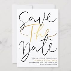 Elegant Calligraphy Photo Wedding Save The Date Announcement Postcard - cards custom invitation card design marriage party Wedding Anniversary Invitations, Engagement Party Invitations, Save The Date Invitations, Beautiful Wedding Invitations, Elegant Wedding, Modern Save The Dates, Save The Date Photos, Wedding Save The Dates, Save The Date Cards
