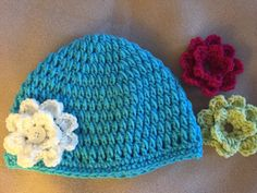 A personal favourite from my Etsy shop https://www.etsy.com/listing/206396969/turquoise-hat-set-with-interchangeable