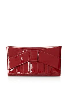Beyond 50% OFF Z Spoke by Zac Posen Women\'s Shirley Bow Clutch (Ruby)