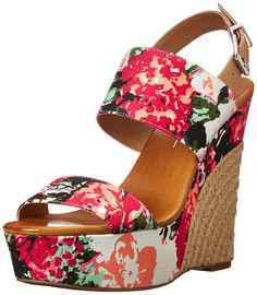 Jessica Simpson Women's Anika Wedge Sandal, Soft Pink Combo, M US. Platform sandal with wide instep strap and jute-wrapped wedge heel. Adjustable buckle strap at ankle. Wedge Sandals, Wedge Shoes, Shoes Sandals, Jessica Simpson Sandals, Popular Shoes, Open Toe Shoes, Shoe Collection, Fashion Shoes, Wedges