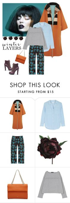 """""""Mix & Match"""" by petalp ❤ liked on Polyvore featuring MaxMara, Equipment, Marques'Almeida, Abigail Ahern, Nina Ricci and separates"""