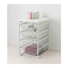 "ALGOT Frame with 3 mesh baskets & top shelf, white, $40.99.  [16 1/8"" W x 23 5/8"" D x 28 3/8"" H]"