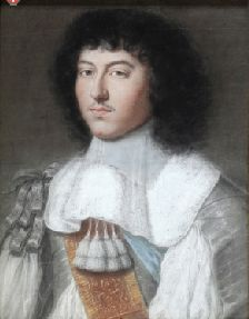 Portrait of Louis XIV commissioned by his, mother Anne d'Autriche, to commemorate his marriage, 1660 by Wallerand Vaillant (1623-1677) (Chateau de Versailles)