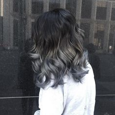 | Silver | this is my 5th session with @ktlnmcdnld and I'm so excited that we got her to her perfect gray shade! Lightened her hair out and then Toned with 10g 1N + 40g Clear in Diarichesse by L'Oreal Professional on the mid lengths and then used Joico in the color Titanium mixed with a little bit of clear on the ends @riccihairco @olaplex @behindthechair_com @modernsalon #riccihair #olaplex #btcpics #behindthechair #modernsalon #balayage #balayageombre #ombre #greyombre #silverombre…