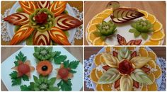 Great creative ideas using fruit decoration