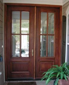 Lovely Double Entry Door with Sidelites