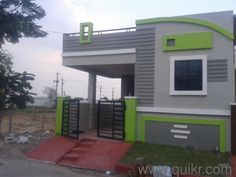 Top 10 latest house design in indiaKisi bhi tarah ka ghar banane ya uska design banane k liye sampark kare M S KHAN DEVELOPERS (KOLKATA) MOB single floor house design single floor house design kerala, single floor house design inside House Front Wall Design, Single Floor House Design, House Outside Design, Village House Design, Duplex House Design, Simple House Design, Stone House Plans, 2bhk House Plan, Front Elevation Designs
