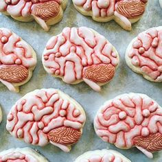 These brain cookies are too real!!  @lucky_bites Search Brain Cookie Cutter on our website to make your own cookies. Link in profile  Did you know you can make your own custom cookie cutter on our website if it's not already in our 3,000+ collection? What would you make? #cookiecutterkingdom