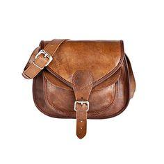 09eb75e24594 81stgeneration Genuine Leather Satchel Handbag Shoulder Cross-Body Festival  Everyday Vintage Bag  Handbags  Amazon.com