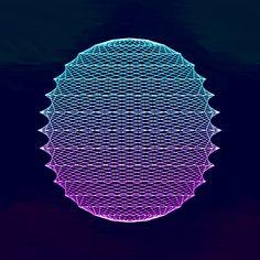 Mermaid Geometry  -  gif  -     Paolo Ceric  /  patakk   -     http://patakk.tumblr.com/
