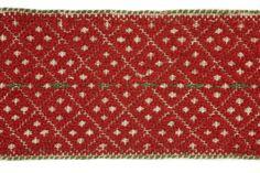An Estonian Women's belt (vöö) - woven? Embroidered? Wonderfully warm-looking?