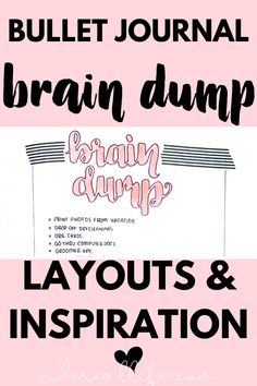 Use a brain dump spread in your bullet journal to clear your mind and empty your thoughts! Get clarity and start tackling your tasks with a clutter free mind. Bullet Journal Lettering Ideas, Bullet Journal Font, Bullet Journals, Goal Journal, Journal Pages, Journal Ideas, Creating A Bullet Journal, Bullet Journal How To Start A, Clear Your Mind