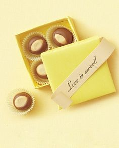 Buckeye favor - great for a wedding in Ohio @Whitney Orr    #Love Is Sweet Favor Tag