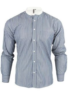 dce196d0 Mens Long Sleeved Grandad Collar Mod-Retro Shirt by Relco Relco, http:/