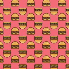 Junk Food Patterns by Raquel Sordi, via Behance