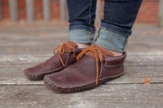 Genuine Leather Ankle Boot Moccasin (The Happy Traveler)
