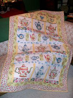 Teapots for Terri  gift quilt