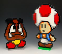 Lego Goomba and Toad by BrickBum
