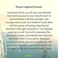 9 Powerful Healing Prayers for Cancer Patients #nursebuff #cancerpreayers #healingprayers