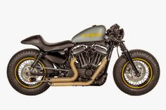 "Racing Cafè: Harley Sportster Forty-Eight ""No Problem"" by Shaw Speed & Custom Harley Sportster 48, Hd Sportster, Harley Bikes, Bajaj Auto, Forty Eight, Moto Bike, Motorcycle Gear, Cool Motorcycles, Harley Davidson Motorcycles"