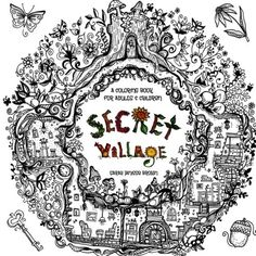 Introducing Secret Village  A Coloring Book Adventure Beyond the Garden Gate Beneath the Forest Floor Among the Hollow Trees  A Mystery Endures Purse Sized  Inspirational for Ages 9 to Adult Volume 2. Great Product and follow us to get more updates!