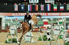 The famous Alltech Molecule jump, with Kent Farrington and Up Chiqui winning the Speed Stake at the Alltech National Horse Show in 2011.  (Photo:  Shawn McMillen)