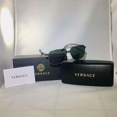 40a7a9b12775 New Versace sunglasses. Model gun  green lenses