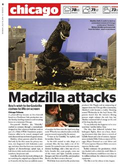 Our costume being used in a Make A Wish project called Madzilla! Make A Wish, How To Make, Godzilla, Being Used, Making Out, Costume, Projects, Life, Fancy Dress