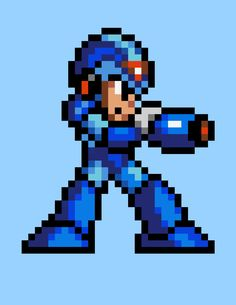 megaman pixel art - Pesquisa Google