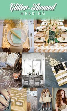 12 Legitimately Awesome Non-Traditional Wedding Themes. Glitter themed would work with my ideas!