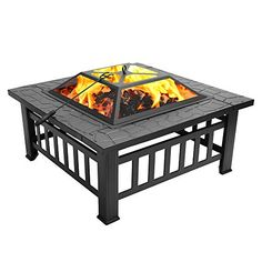 "ZENY 24"" Fire Pit Hex Shaped Home Garden Outdoor Firepit ... on Zeny 24 Inch Outdoor Hex Shaped Patio Fire Pit Home Garden Backyard Firepit Bowl Fireplace id=72605"