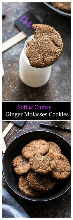 Soft & Chewy Ginger Molasses Cookies loaded with all the amazing holidays flavors! Enjoy them with a glass of milk! Find the recipe on www.cookwithmanali.com