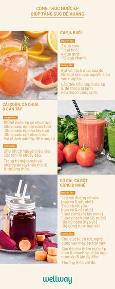 5 loại nước ép vừa ngon vừa giúp tăng sức đề kháng cho cơ thể mùa dịch #juice #recipe #nuocep #tangcuonghemiendich Fruit Drinks, Wine Drinks, Food Design, Cleanse, Detox, Drinking, Clean Eating, Food And Drink, Health Fitness