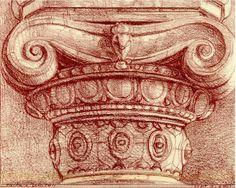"172. ""Capital of an Ionic Column"" Britell"