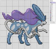Pixel art pearled bead
