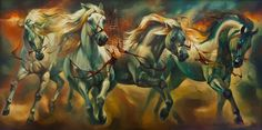 """"""" Chariot of time"""" oil on canvas 180X100 cm 2009"""