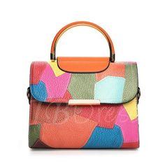 #TBDress - #TBDress European Style Fashion Color Splicing Tote Bag - AdoreWe.com
