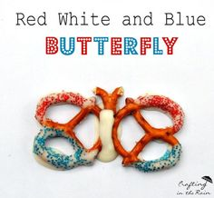 4th of July Pretzel Butterflies | Crafting in the Rain