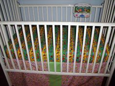 Finished crib sheet in Rosie's bed