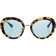 Pre-owned Prada Totoiseshell Oversize Sunglasses ($175) ❤ liked on Polyvore featuring accessories, eyewear, sunglasses, brown, prada glasses, circular glasses, prada sunglasses, tortoiseshell sunglasses and circle glasses