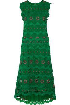 Chloé Guipure lace midi dress | NET-A-PORTER