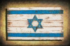 Israel Flag Handmade Distressed Wood  This and more available for purchase at: www.chrisknightcreations.com