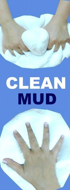 CLEAN MUD FOR KIDS: All the fun of mud with none of the mess! My kids love this stuff!