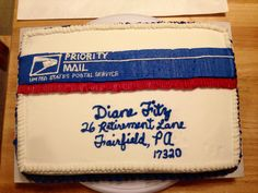 Retirement - Postal Retirement (buttercream and royal icing)