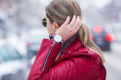 Red motto jacket